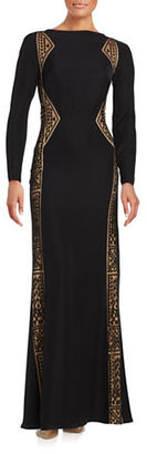 Tadashi Shoji Long Sleeve Dress $419 thestylecure.com