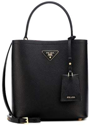 Prada Double Medium leather bucket bag