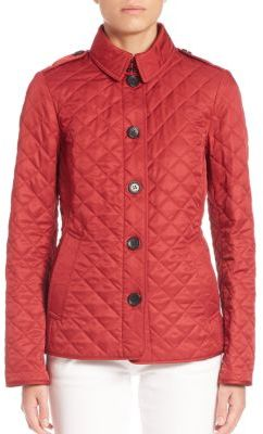 Burberry Ashurst Diamond-Quilted Jacket $595 thestylecure.com