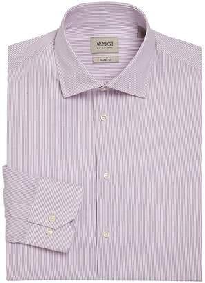 Giorgio Armani Men's Slim-Fit Striped Dress Shirt