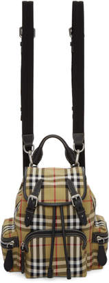Burberry Beige Small Heritage Check Backpack