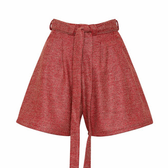 Bo Carter Doralis Wool Shorts Red