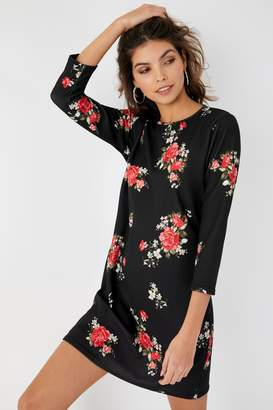 79b56fb6 Next Womens Boohoo Floral Three-Quarter Sleeve Shift Dress