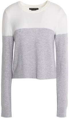 Alice + Olivia Two-Tone Wool-Blend Sweater