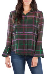 KUT from the Kloth Odelline Plaid Blouse