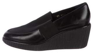 Walter Steiger Leather Wedge Loafers