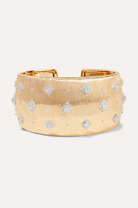 Buccellati Macri 18-karat Yellow And White Gold Diamond Cuff