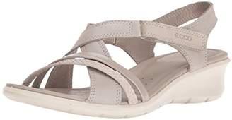 Ecco Women's Felicia Wedge Heels Sandals, Black