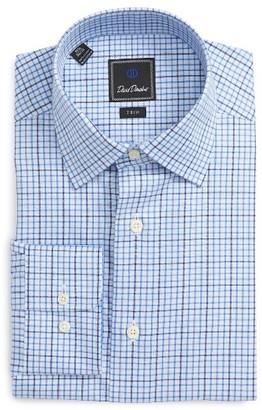 Men's David Donahue Trim Fit Check Dress Shirt $135 thestylecure.com