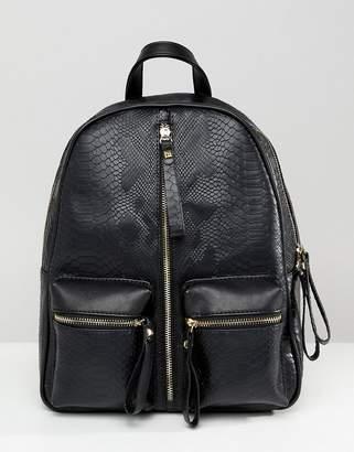 Liquorish zip front backpack