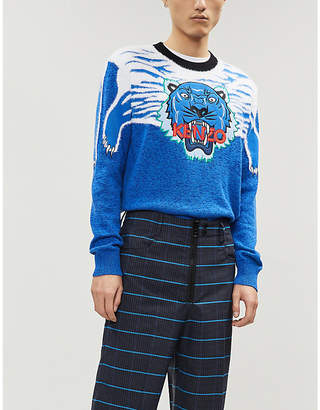 b8b4810a3 Kenzo Claw Tiger cotton-blend jumper