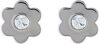 Michael Kors Silver-Tone Flower Stud Earrings