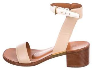 Rosetta Getty Leather Ankle Strap Sandals