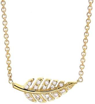 Jennifer Meyer Mini Diamond Leaf Necklace