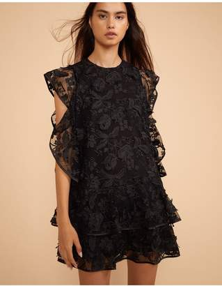 Cynthia Rowley Madison Floral Lace Flutter Sleeve Dress