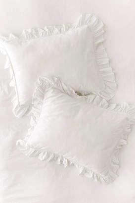 Washed Cotton Overscale Ruffle Sham Set