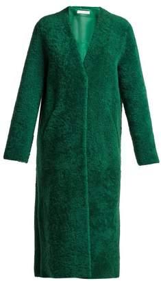 Inès & Marèchal Darling Shearling Coat - Womens - Green
