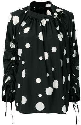 Steffen Schraut polka dot blouse