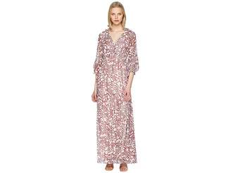 Badgley Mischka Bell Sleeve Boho Leo Maxi Women's Dress