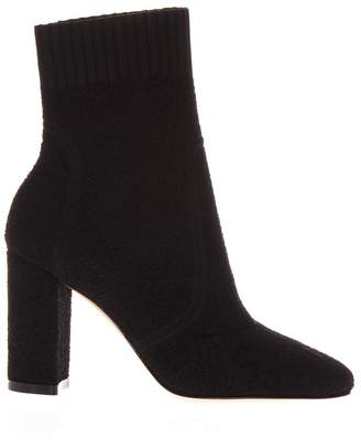 Gianvito Rossi Black Stretch Knit Ankle Boots