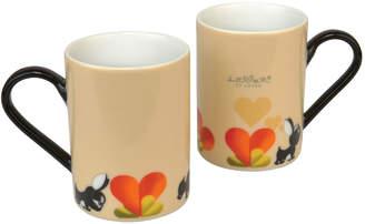 Berghoff Lover by Lover Porcelain Coffee Mug Pair - Beige