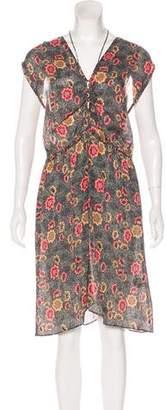 Etoile Isabel Marant Floral Lace-Tie Dress