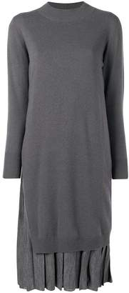 Fabiana Filippi layered knit pleated dress
