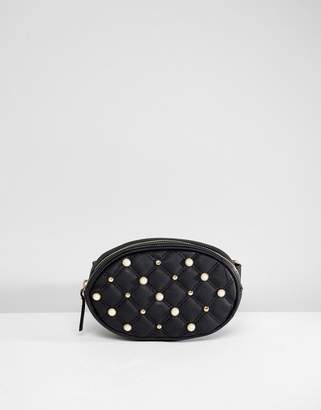 Oh My Gosh Accessories Faux Pearl Studded Detail Fanny Pack