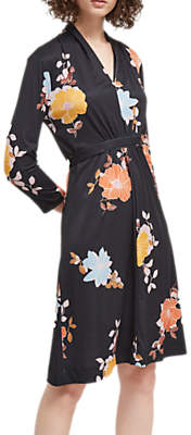 French Connection Shikokus Jersey Long Sleeve Dress, Black/Multi