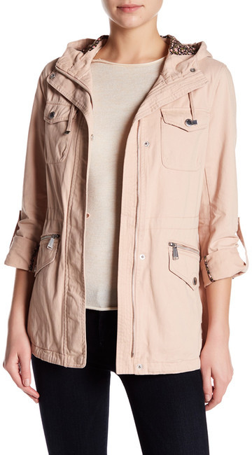 BCBGeneration BCBGeneration Hooded Roll Sleeve Anorak