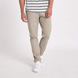 River Island Minimum brown slim fit chino pants