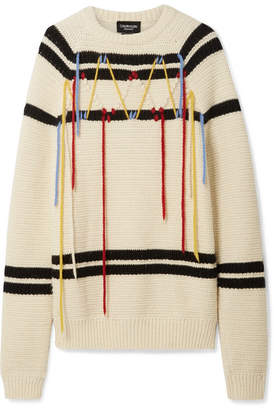 Calvin Klein Embroidered Wool Sweater - Cream