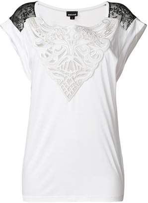 Just Cavalli lace insert T-shirt