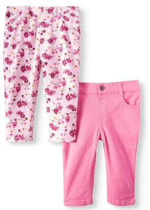 Garanimals Printed Jeggings & Skinny Jeans, 2-pack (Baby Girls)