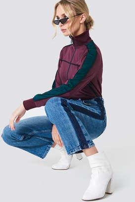 Na Kd Trend Wide Leg Side Panel Jeans Mid Blue