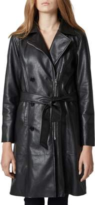 Blank NYC BLANKNYC Faux Leather Trench Coat