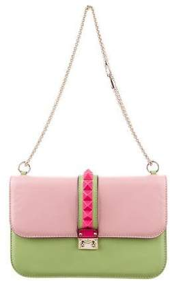 Valentino Medium Lock Flap Shoulder Bag