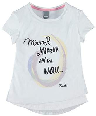 Bench Girl's Dbl Lyr Graphic Top T-Shirt, (Bright White Wh11185), (Size: 15-16)