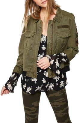Women's Sanctuary Military Bomber Jacket $159 thestylecure.com
