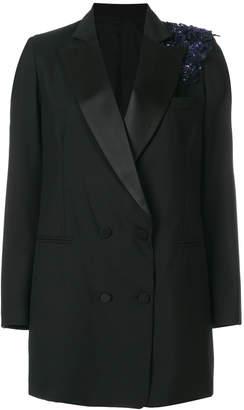 Christian Pellizzari sequin detail double breasted blazer 043 HOLJVV