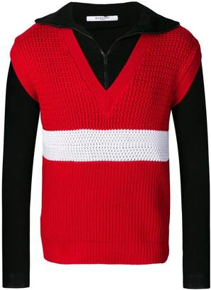 Givenchy layered sweater vest