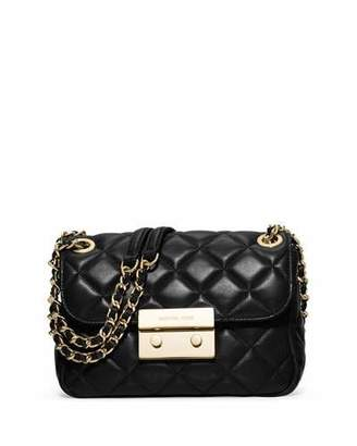 MICHAEL Michael Kors Sloan Small Chain Shoulder Bag, Black $278 thestylecure.com