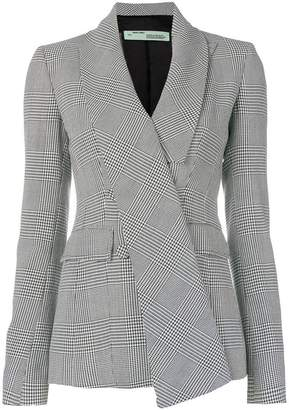 Off-White fitted houndstooth blazer