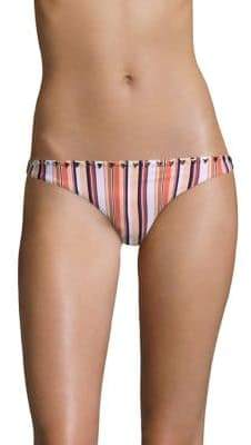 Same Swim Full Coverage Striped Bikini Bottom