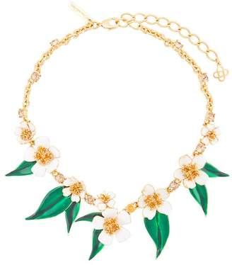 Oscar de la Renta delicate flowers necklace