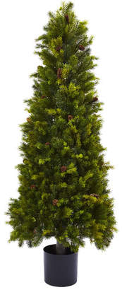 "Nearly Natural 50"" Green Pine Artificial Christmas Tree"