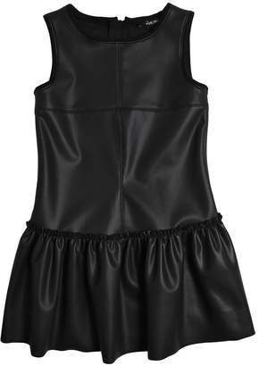 Stretch Faux Leather Dress