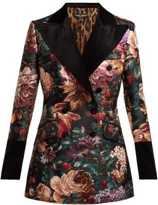 Dolce & Gabbana Floral Jacquard Velvet Blazer - Womens - Black Multi