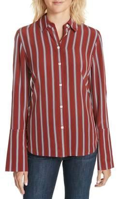 Frame Silk Pajama Blouse