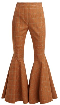 Ellery Jacuzzi Checked Trousers - Womens - Brown Multi